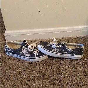 """Navy blue """"floral""""Vans"""